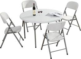 round folding table foldaway table with chairs