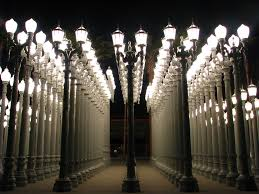 Chris Burdens Urban Light Art Lacma Lights Art City