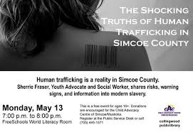 The Shocking Truths of Human Trafficking in Simcoe County on May ...