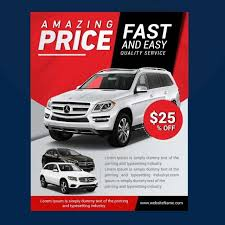 Car Flyers Sale Poster Pamphlet Design Car Posters