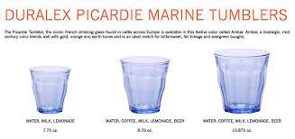 duralex picardie glasses. Simple Glasses Duralex Picardie Tumbler Bicchieri 25 Cl Marine BluPacco Da 6  Amazonit Casa E Cucina To Glasses