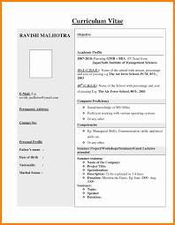 Resume Format Freshers Luxury 4 Good Resume Format For Freshers