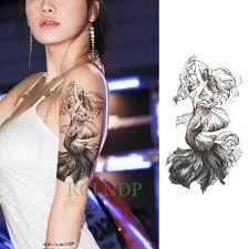 водонепроницаемые временные татуировки наклейки русалка принцесса временная