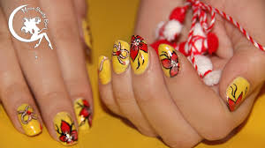 Red And Yellow Nail Designs Yellow Red Summer Spring Nail Art