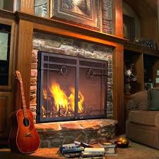 wood burning fireplace glass doors with blowers best of stove insert