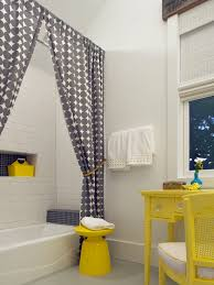 beautiful yellow striped shower curtain amazing gray patterned shower curtain and lemon yellow martini side