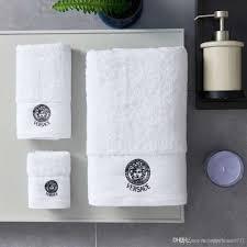 Designer Bath Towels Luxury Bath Towels Designer Fashion Embroidered Brand Square Towel Beach Towel And Bath Towel 3 Piece 1 Set Cotton Fabric Soft Comfortable