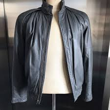 details about sea dream leather jacket size medium vintage unique motorcycle er coat