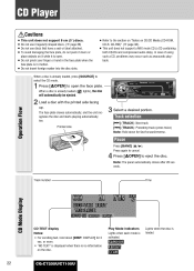 panasonic cq c7105u support and manuals operating instructions page 22