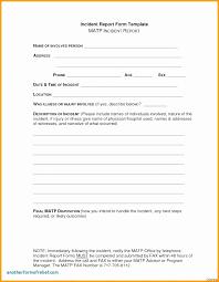 Incident Report Format Letter Elegant Childcare Templates Beautiful