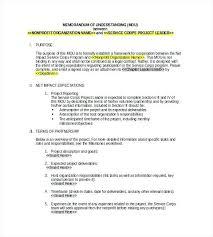 Memorandum Of Understanding Template Fascinating Sample Memorandum Of Understanding Template Azserver