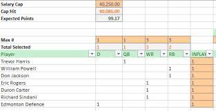 Revised Week 1 Pick Excel Solver Model Album On Imgur