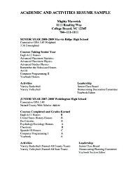 How To Write A Resume For A Scholarship Stunning College Scholarship Resume Examples Scholarship Resume Template