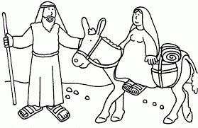 Sunday School Christmas Coloring Pages Bible Story Home 1389900