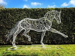garden sculpture. Mild Steel Horse Sculpture / Equines Race Horses Pack HorseCart Plough Horsess By Sculptor Garden