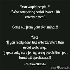 Dear Stupid People Quotes Writings By Firdouse Malasha