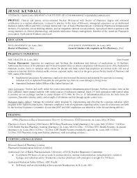 Retail Pharmacist Resume Sample Pharmacist Resume