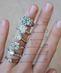 5 8 Carat Diamond Ring On Finger Lovely Diamond Size Chart
