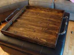ottoman tray top rustic ottoman tray wooden serving coffee table full