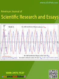 american journal of scientific research and essays issn  american journal of scientific research and essays