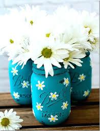 mason jar crafts ideas to make painted mason jars with daisies diy mason jar acrylic