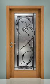 rennie mackintosh full length bevel glass frosted door panel