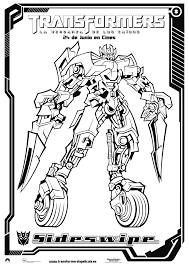 Sideswipe Transformers Robots In Disguise Coloring Page Auto