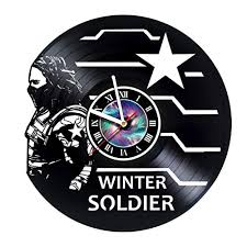 Record Gifts Kravchart Winter Soldier Vinyl Record Wall Clock Get Best Gifts