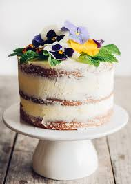 Triple Lemon Naked Layer Cake With Edible Flowers Buttered Side Up