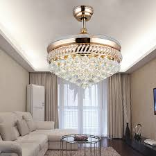 beautiful design crystal chandelier ceiling fan 26