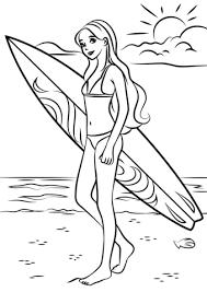 Disegno Di Barbie Surfista Da Colorare Disegni Da Colorare E