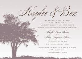 Simple Wedding Invitation Wording From Bride And Groom