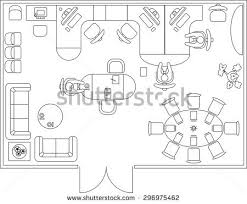 Room Designing  Kitchen Plan With Furniture Set Vector Clipart Furniture Clipart For Floor Plans