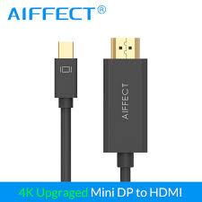 2019 <b>AIFFECT Mini Displayport</b> To HDMI Cable Adapter Mini DP To ...