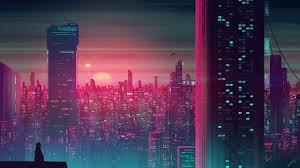 Retro City Sunset Wallpapers ...