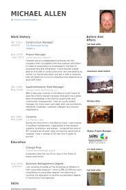 Construction Manager Resume Samples - Visualcv Resume Samples Database