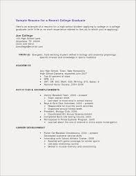 Sample Resume With No Work Experience For High School Students How