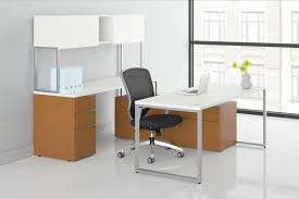 hon voi contemporary u shaped desk with low credenza