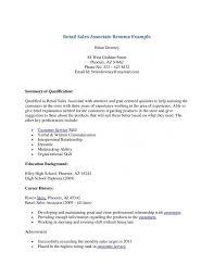 Objective For Sales Associate Resume Resume Objectives For Sales Associate