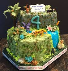 Hiking Cake Designs Jungle Book Theme Cake Whipped Cream Icing With Gum Paste