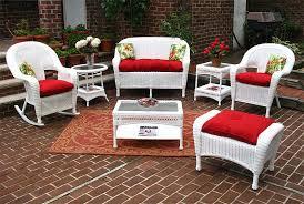 white malibu outdoor wicker patio furniture