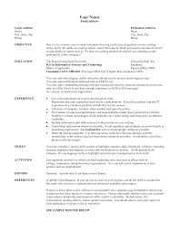 Sample Resume Sample Text Resume Education And Experience For