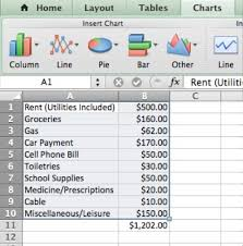 How To Budget As A College Student Creating A College Budget In Microsoft Excel 8 Steps