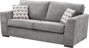 new tesco boston large 3 seater fabric sofa dark grey
