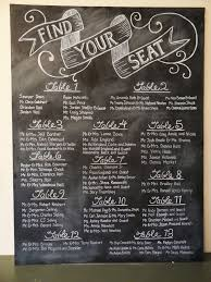 Blackboard Seating Chart Original Blackboard Seating Plan Seating Chart Wedding