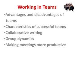 Disadvantages Of Teamwork Ppt Working In Teams Powerpoint Presentation Id 4363604