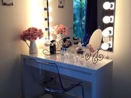black wooden makeup vanity mirror with lights best lighting for makeup vanity