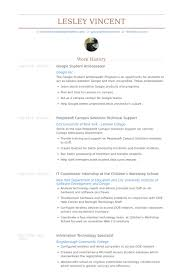 Google Student Ambassador Resume samples