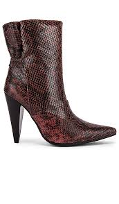 Jeffrey Campbell Spliced Boot In Brown In Pink Black Snake