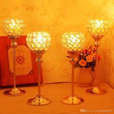 Großhandel Kristall Kerze Schüssel Halter Hochzeit Party Supplies Esszimmer Tisch Leuchter Mittelstücke Geburtstag Urlaub Dekoration Geschenk Von